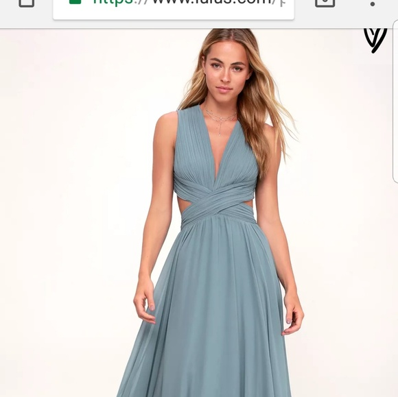 407980aba9f Lulu s Dresses   Skirts - Vivid imagination forest green cutout maxi dress